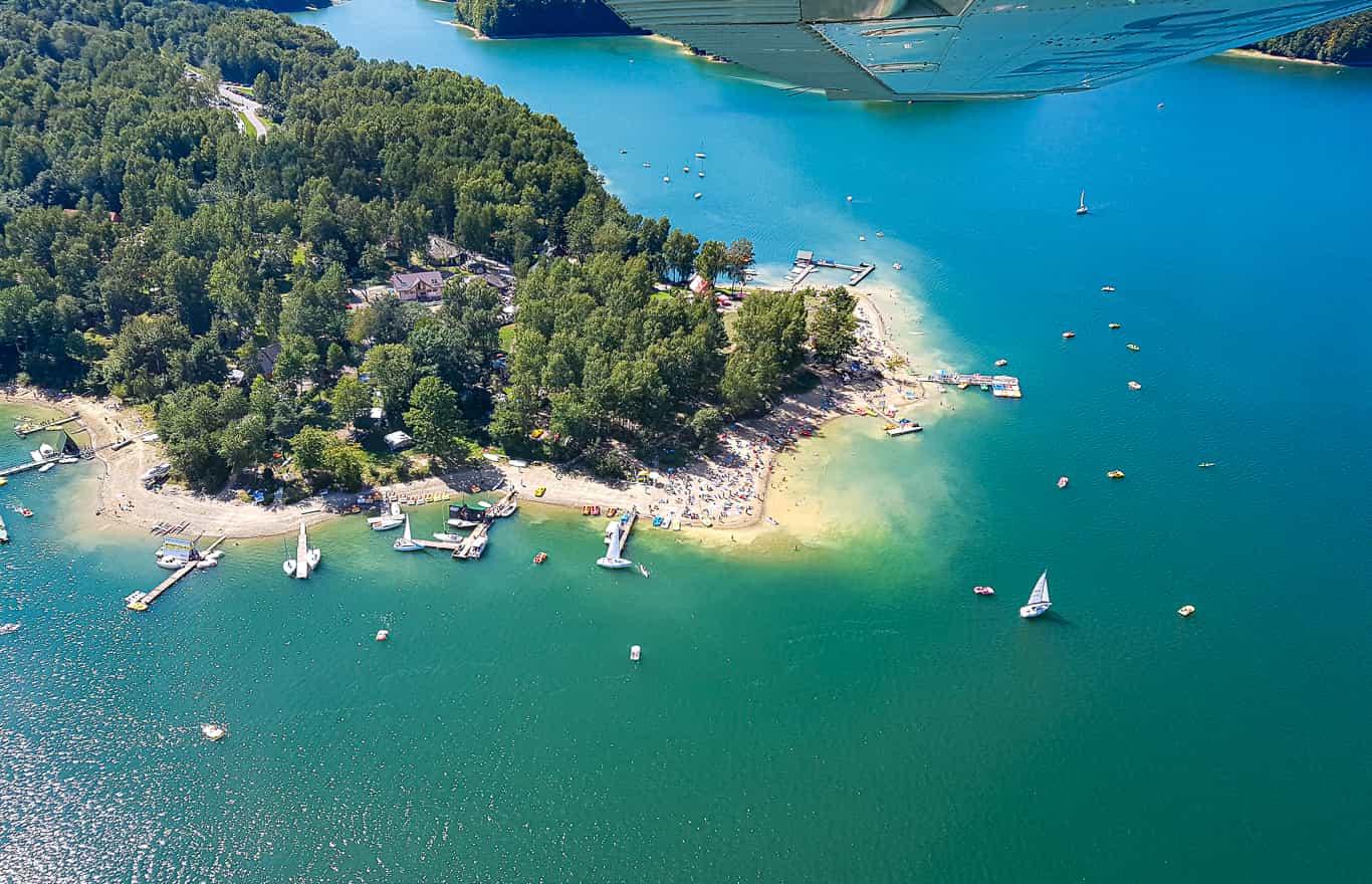 Jezioro Solińskie lot samolotem prezent voucher