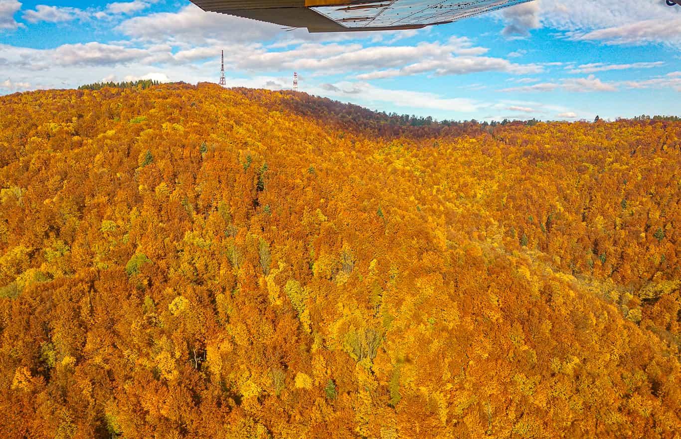 zobacz sam Bieszczady jesienią z lotu ptaka