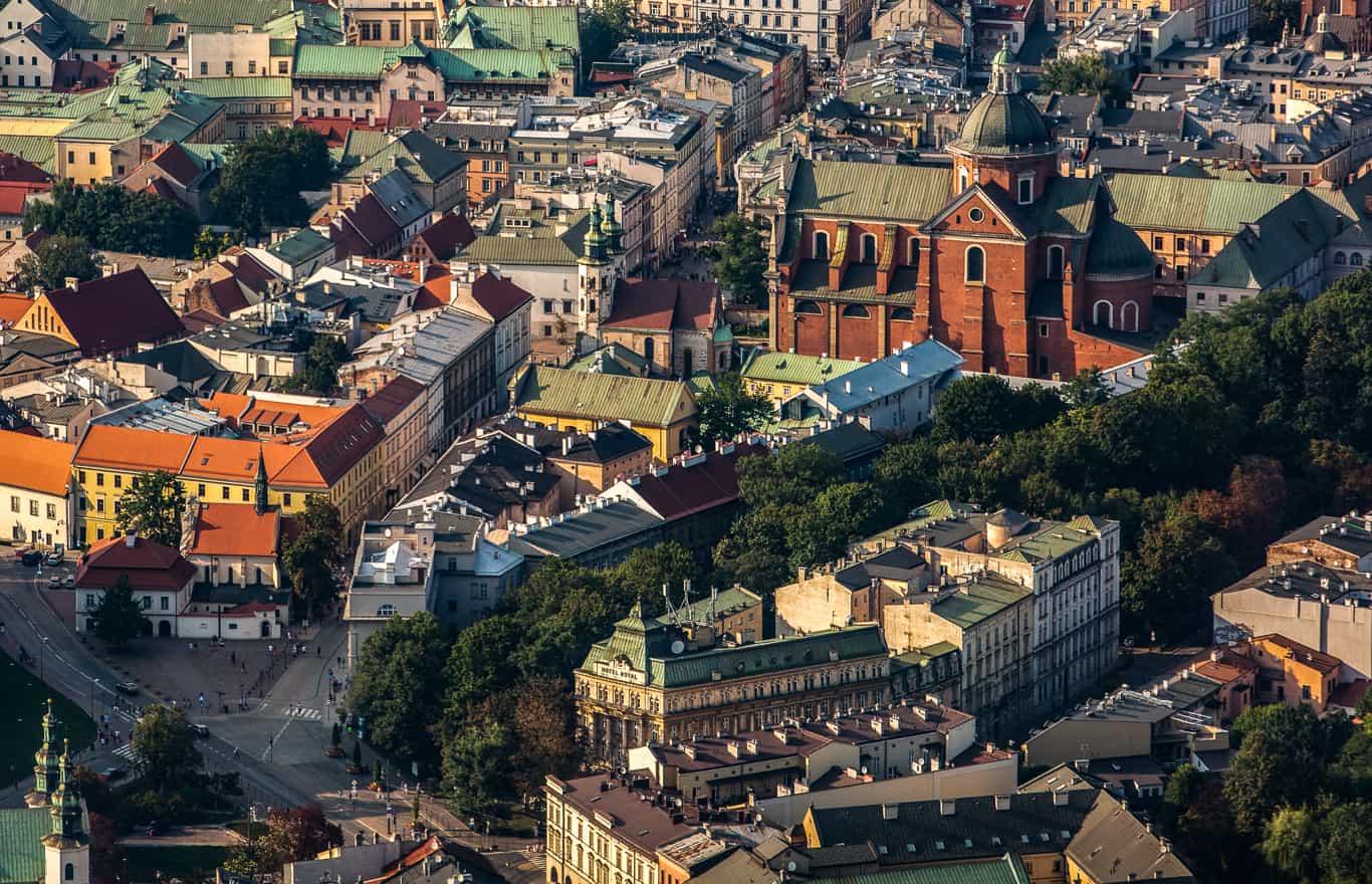 lot nad Krakowem