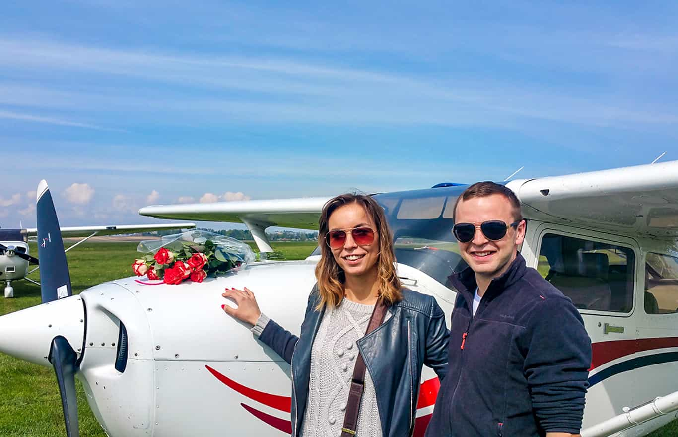 zaręczyny podczas lotu widokowego nad Krakowem
