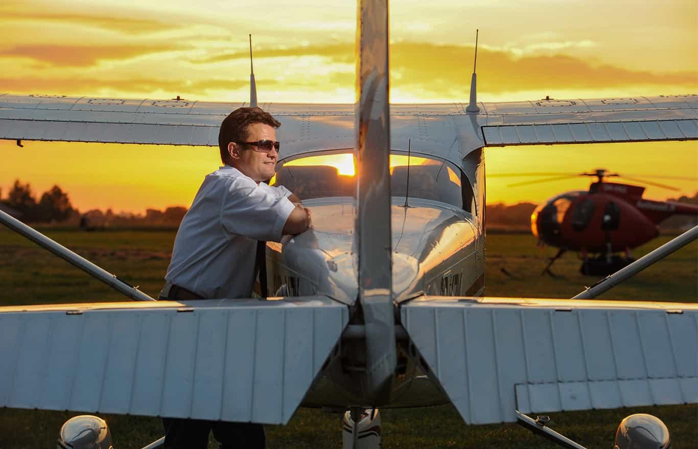 zaręczyny podczas lotu widokowego nad Małopolską