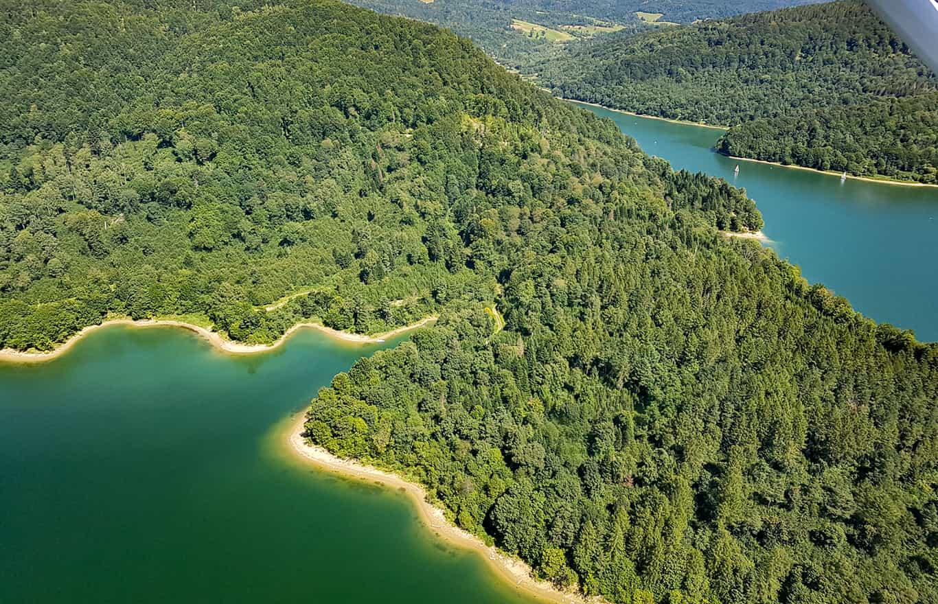 Loty widokowe Jezioro Solińskie