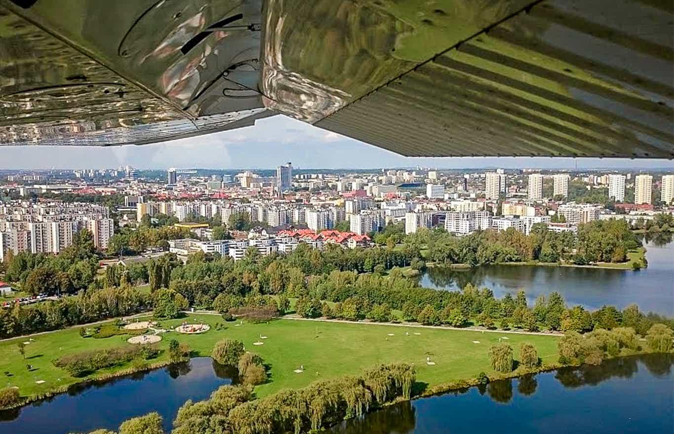 loty nad Polską prezent voucher
