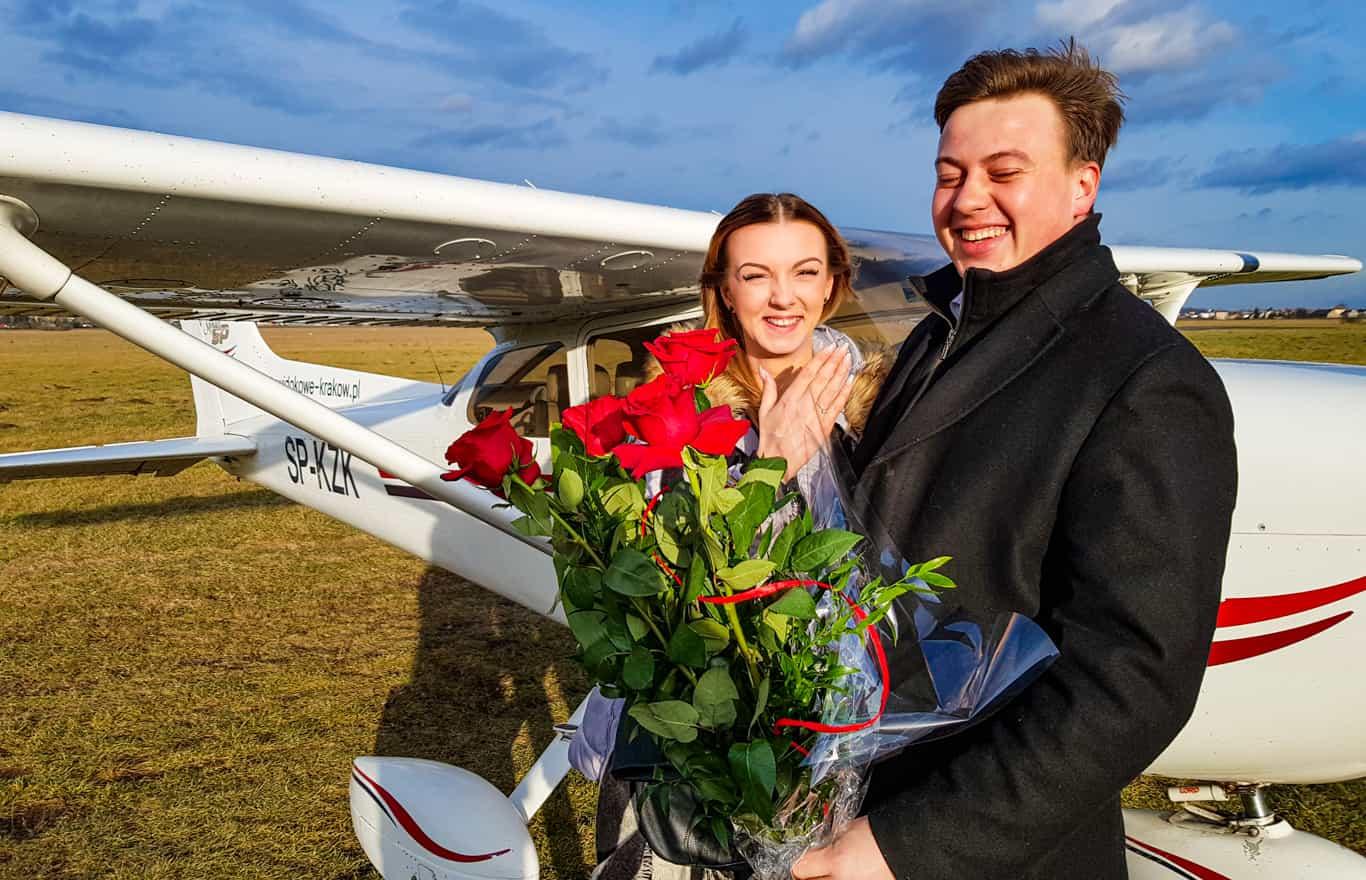 Lot zaręczynowy nad Krakowem pomysł na zaręczyny